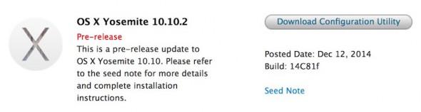 OS X Yosmite Beta