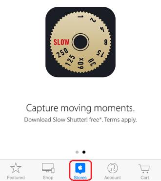 Apple Store SlowShutter