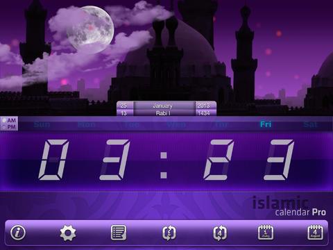 Islamic Calendar iPad