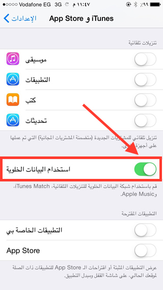 itunes and App Store settings2