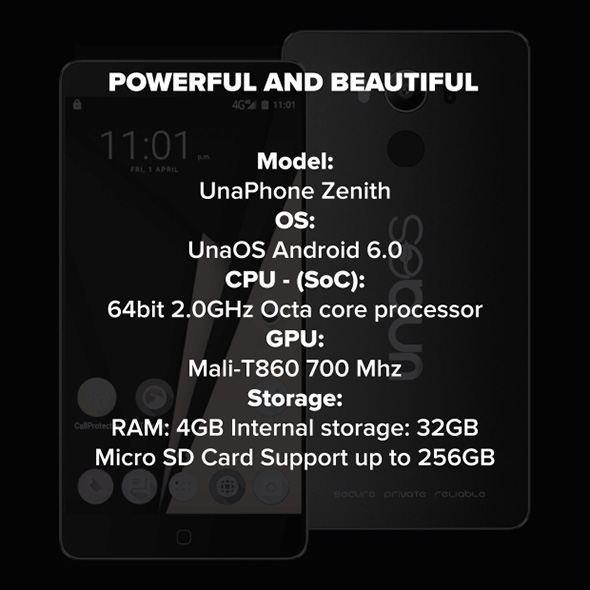 UnaPhone specs