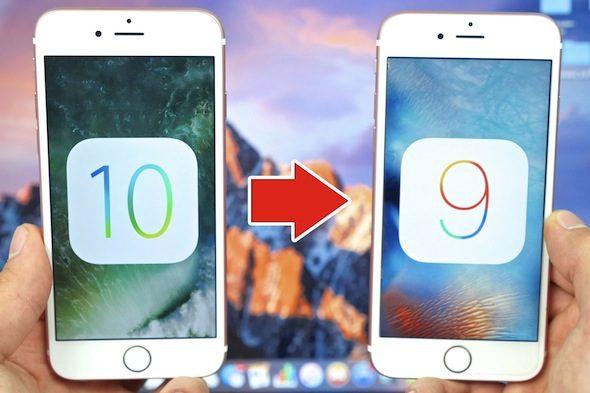 iOS 10 To iOS 9