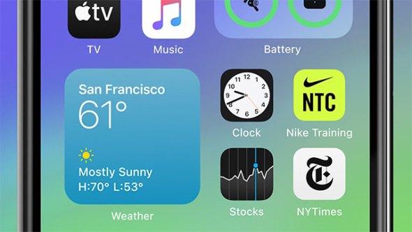 Home screen widgets