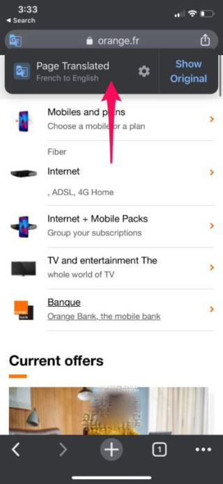 كيفية ترجمة صفحات الويب في متصفح كروم وسفاري على الآي-فون والآيباد