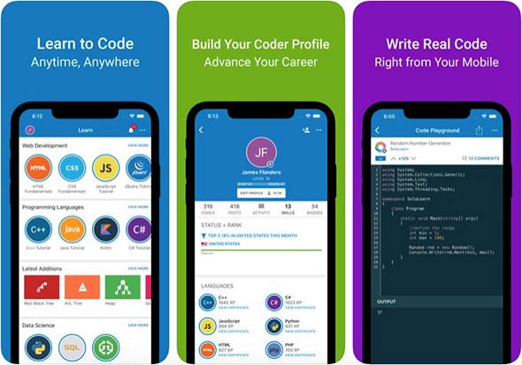 أفضل تطبيقات تعلم البرمجة للآي-فون والآيباد