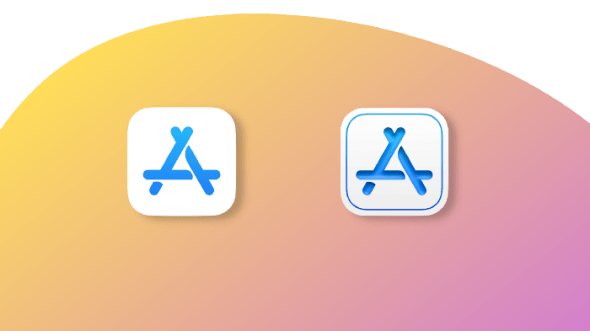 Updated design for the Apple Store Connect app