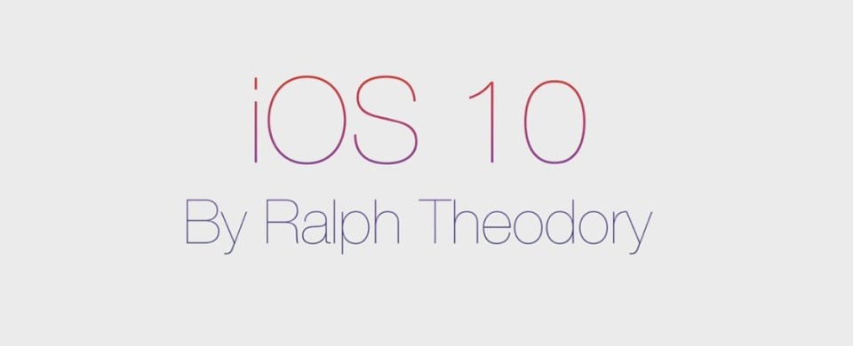 iOS 10 by Ralph