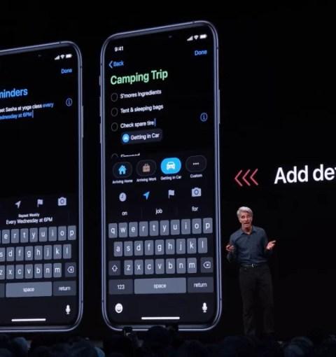 Презентация приложения Напоминания в iOS 13