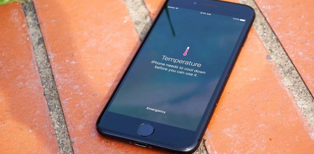 Предупреждение о температуре iPhone