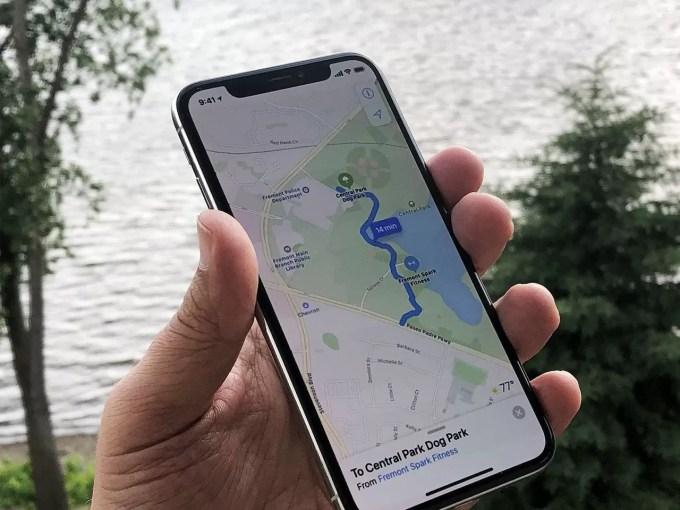 Apple Maps на iPhone