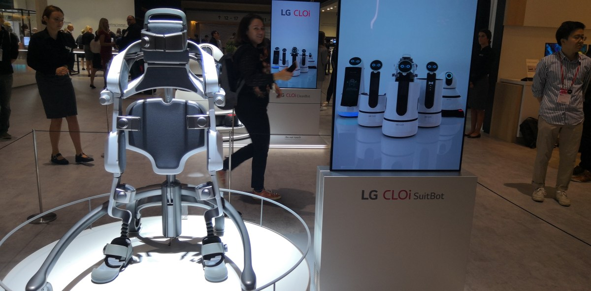 A photo of the lg robot