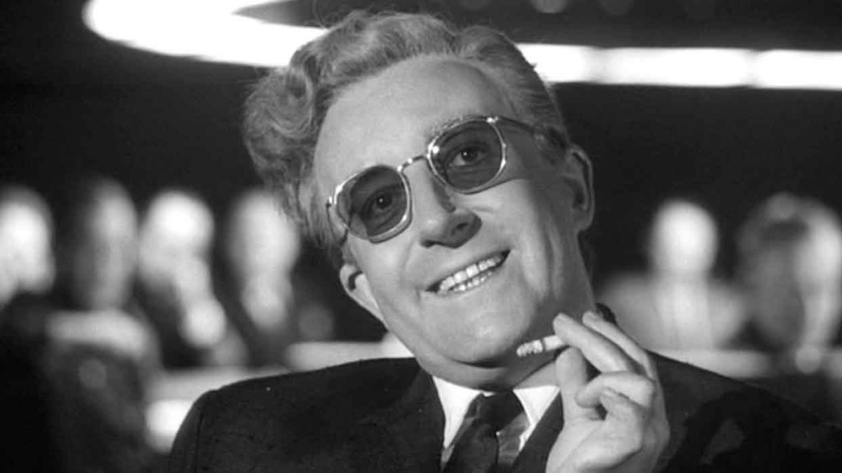 A promo shot from the movie Dr Strangelove currently on Netflix