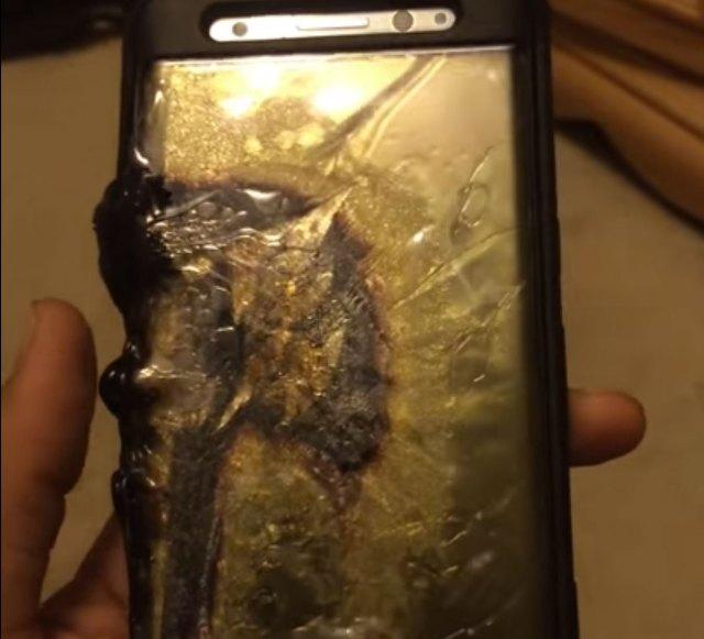 Samsung Galaxy℗ Note 7 con batería quemada