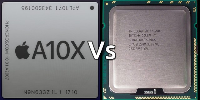 Apple A10X vs Intel℗ Core i7