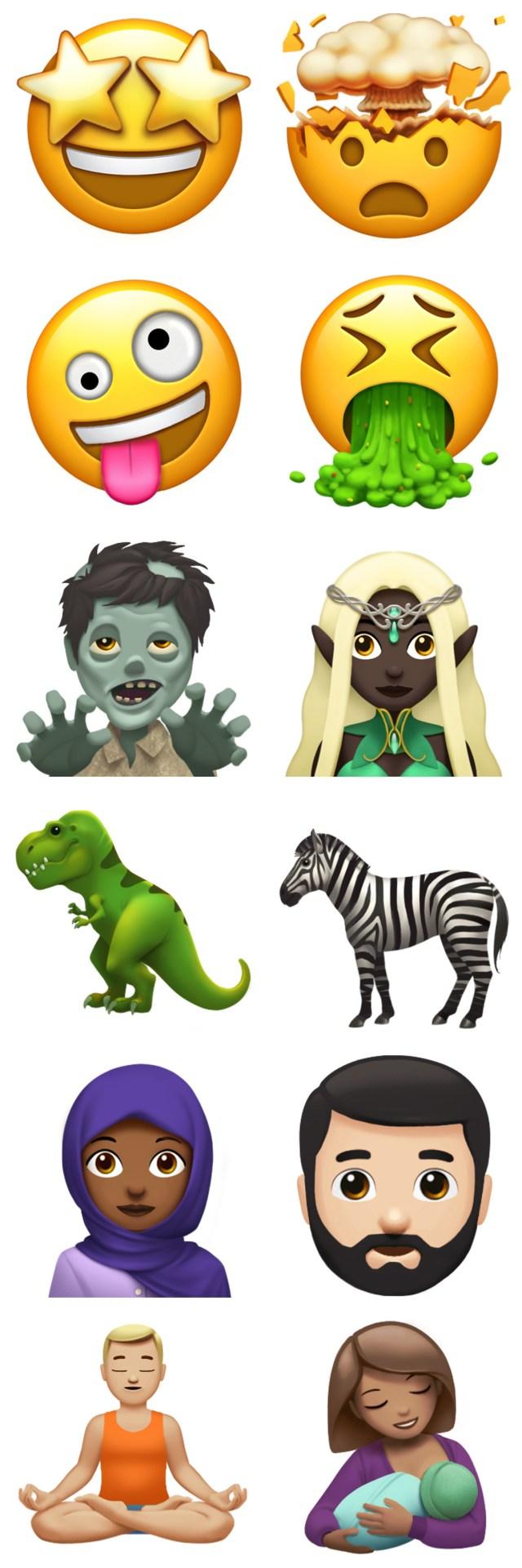 Emojis que llegarán con iOS℗ 11