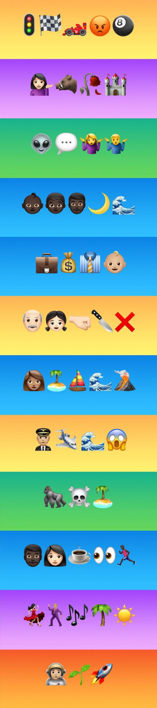 Lista de películas con nombres escritos con emojis