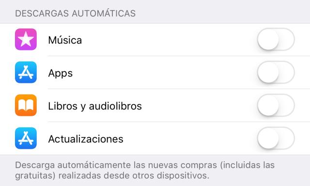Desactivando la actualización de Apps en 2.º plano