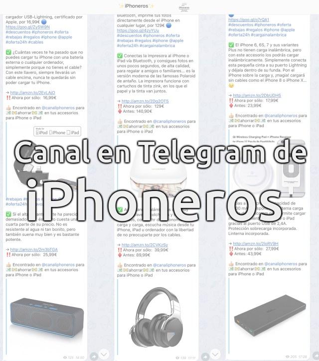 Canal de iPhoneros en Telegram