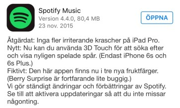 Spotify_uppdat_3D touch