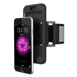 Just in Case iPhone 6/6s Plus TPU Sport armband case (Zwart)