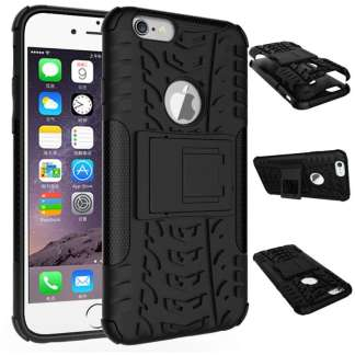 Just in Case Rugged Hybrid iPhone 6/6s Case - Zwart