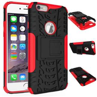 Just in Case Rugged Hybrid iPhone 6/6s Case - Rood