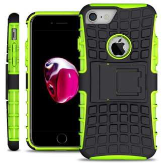 Just in Case Rugged Hybrid iPhone 7/8 Case - Groen