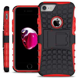 Just in Case Rugged Hybrid iPhone 7/8 Case - Rood