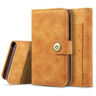Just in Case iPhone X 2 in 1 Wallet Case (Light Brown)