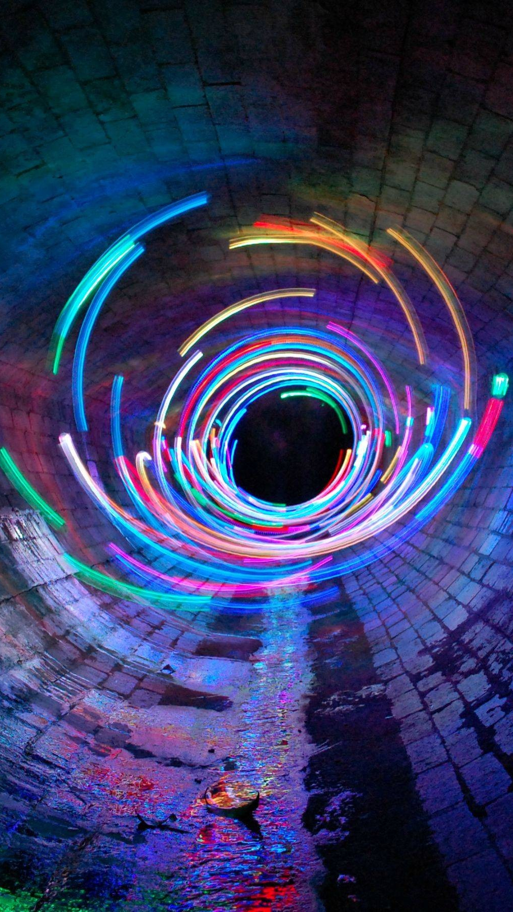 Long Exposure Lights Tunnel IPhone Wallpaper IPhone