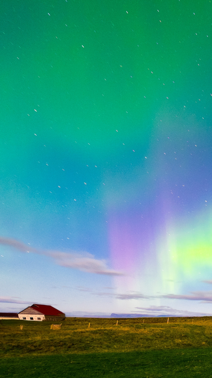 Iceland Aurora Borealis Northern Lights IPhone Wallpaper