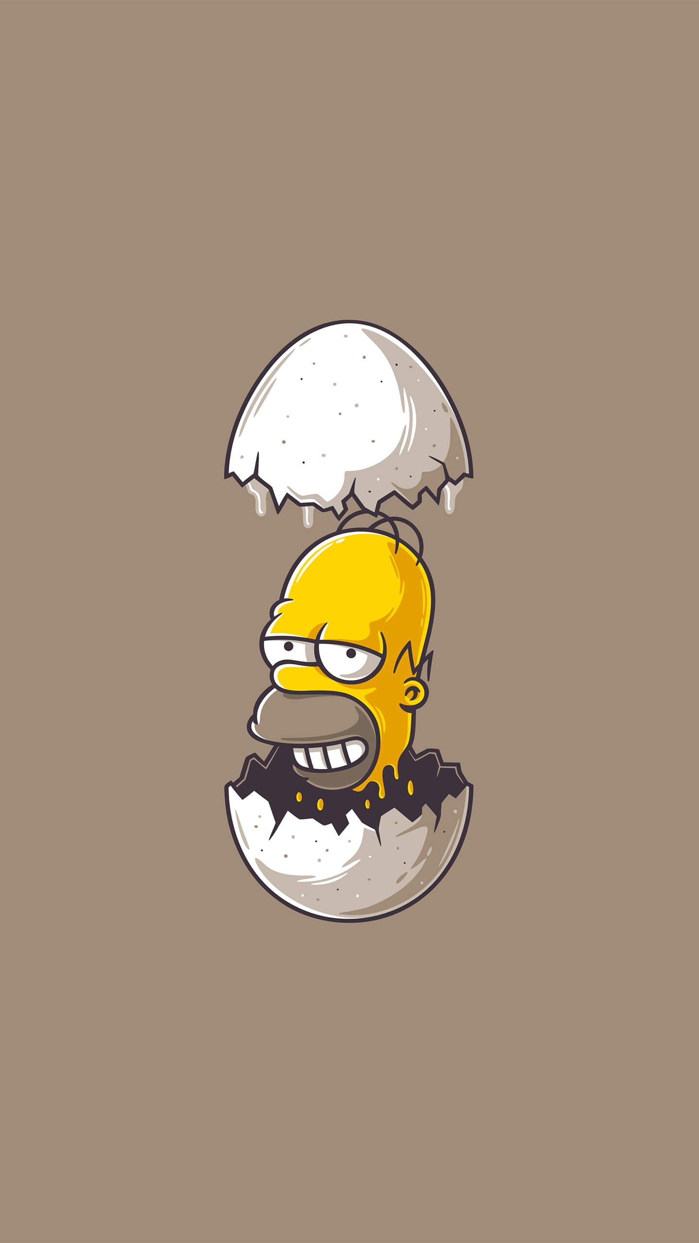 Homer Simpson Minimal IPhone Wallpaper IPhone Wallpapers