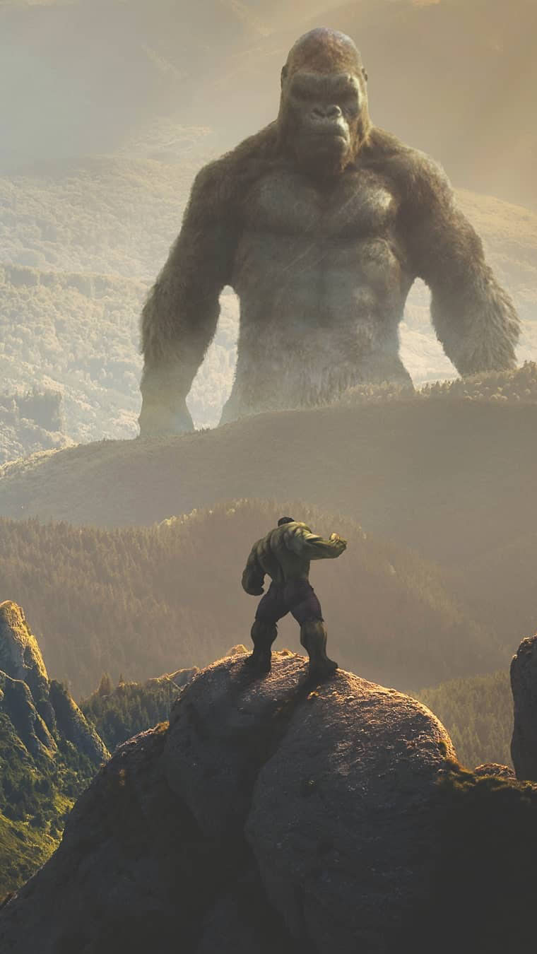 King Kong Vs Hulk Iphone Wallpaper Iphone Wallpapers