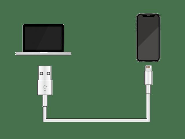 iPhoneをPCに接続する