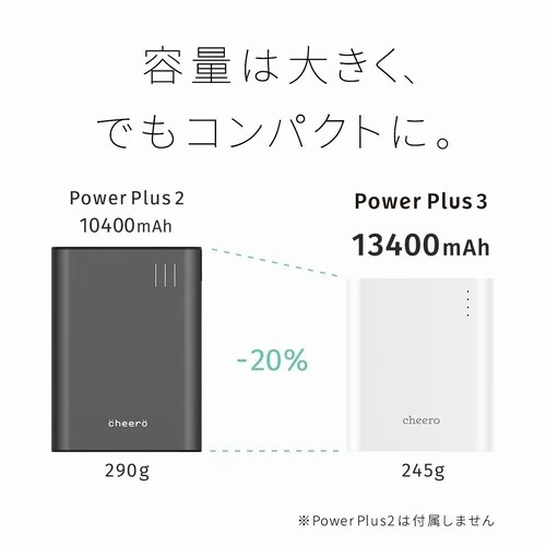 iPhoneのモバイルバッテリーのオススメ2【cheero Power Plus 3】