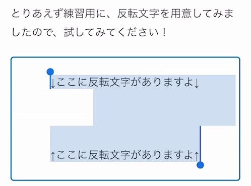 iPhoneで反転文字を読む方法01