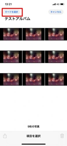 アルバム内のすべての写真を削除する (3)