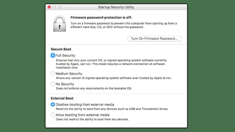 В чем разница между M1 и Mac Intel?: Уровни безопасности