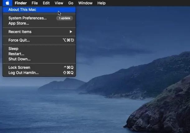Как проверить место на Mac