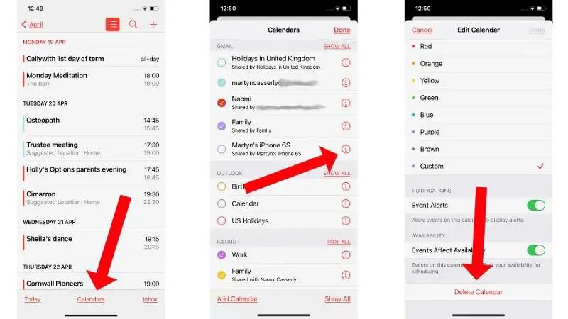 Как удалить календарный спам на iPhone: удаление календарей