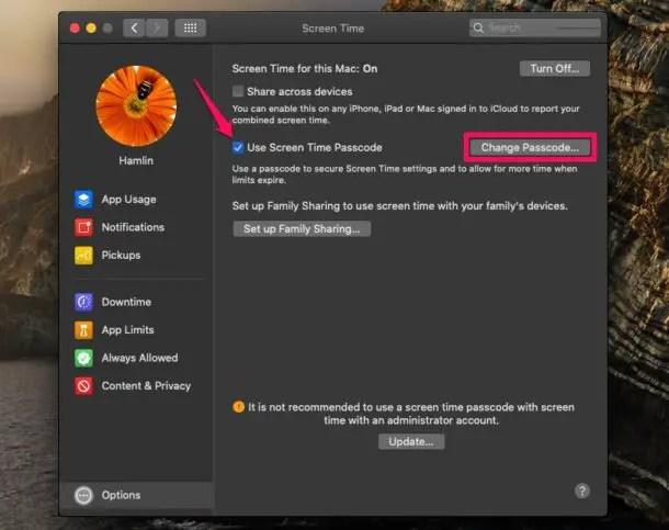 Как установить код доступа к экрану на Mac