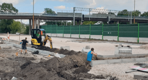 Parkuj i Jedź przy Poniatowskiego w budowie