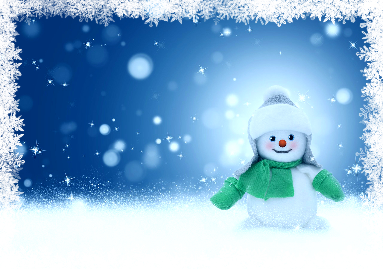 Snowman Background Clipart
