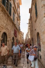 Crowded city streets, Dubrovnik, Croatia