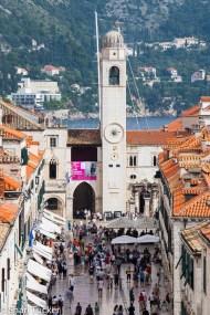 Clock tower, Dubrovnik, Croatia