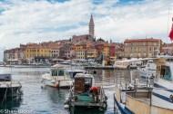Boats in the harbour, Rovinj, Croatia