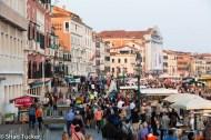 Crowds on the main street near St. Mark's Square, Venice, Italy
