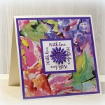 Floral Frame Napkin Card With Tutorial I Played With Paper Today