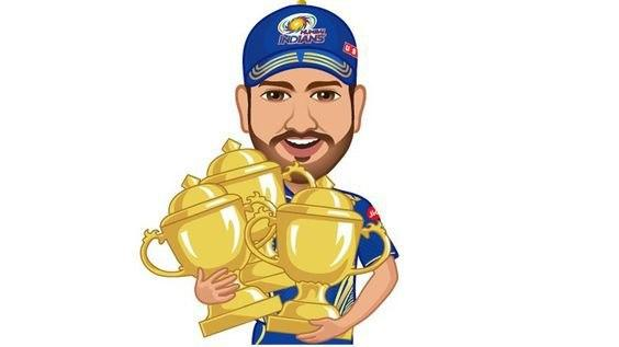 Mumbai Indians Player with Trophy