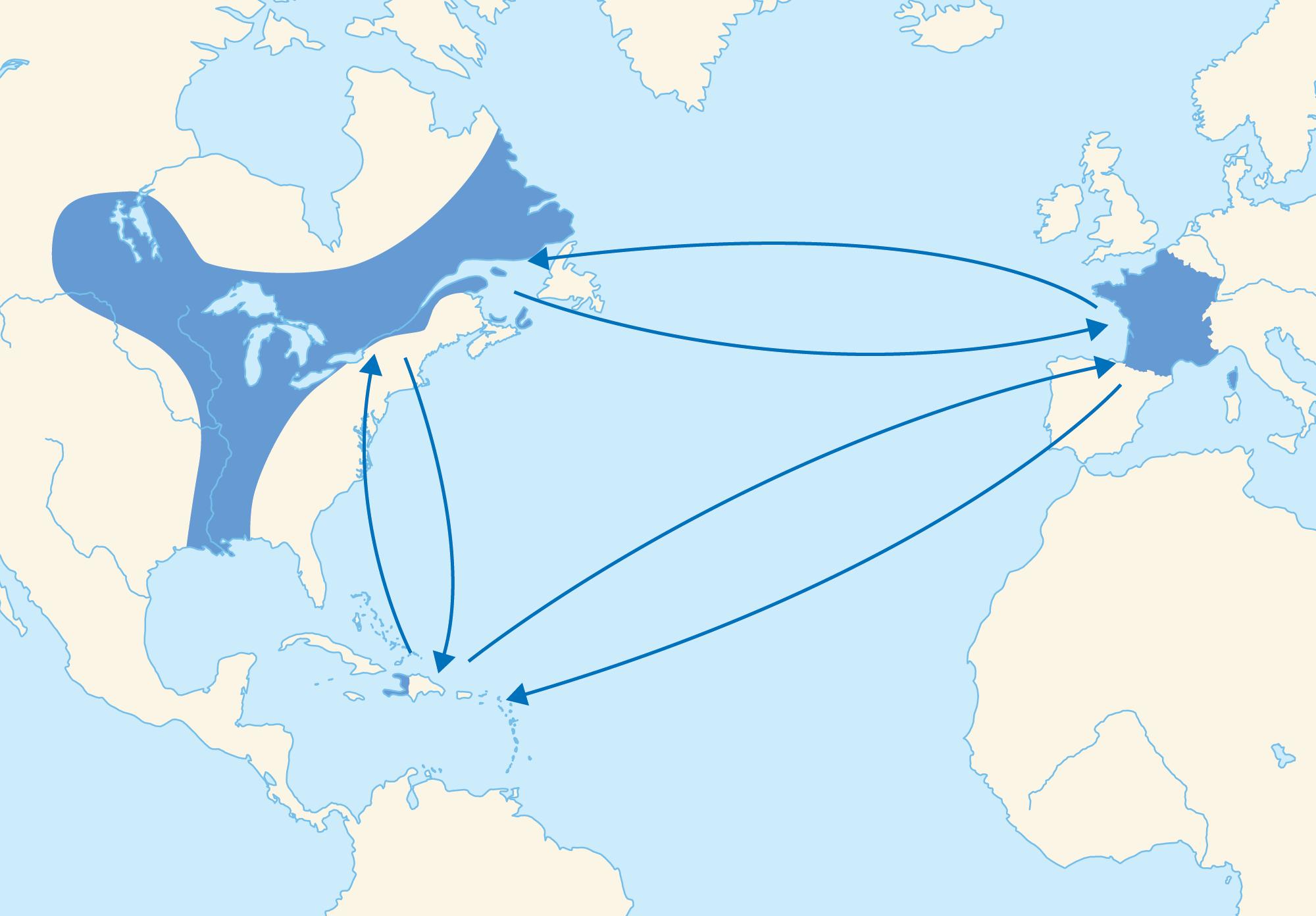 le commerce triangulaire au 18e siecle